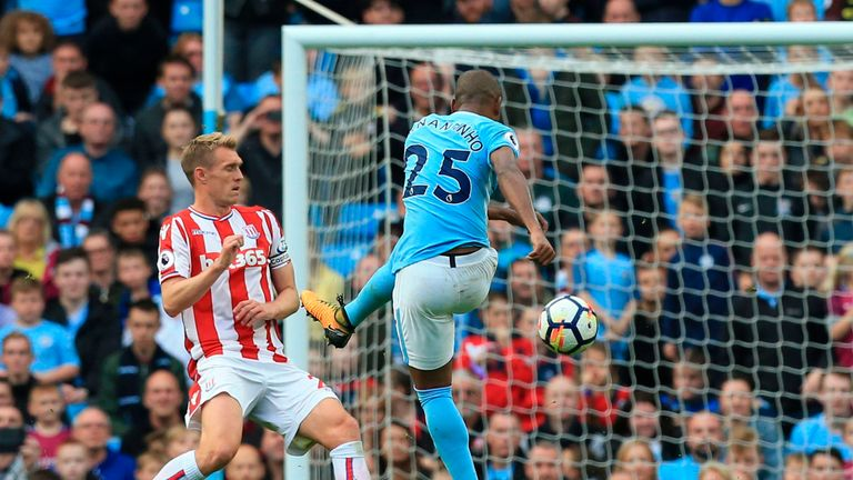 Image result for fernandinho city 7-2 stoke
