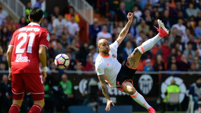 Simone Zaza has been in fine form this season for an improving Valencia side