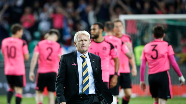 Gordon Strachan left his role as Scotland boss after failing to qualify for the 2018 World Cup