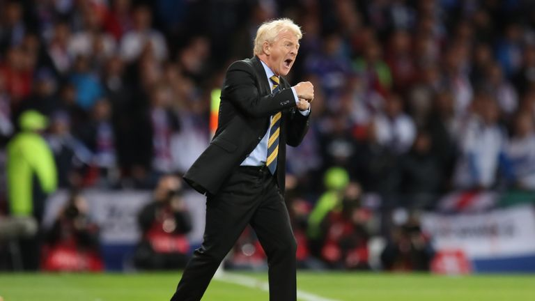 Scotland manager Strachan credits 'footballing gods' for late victory