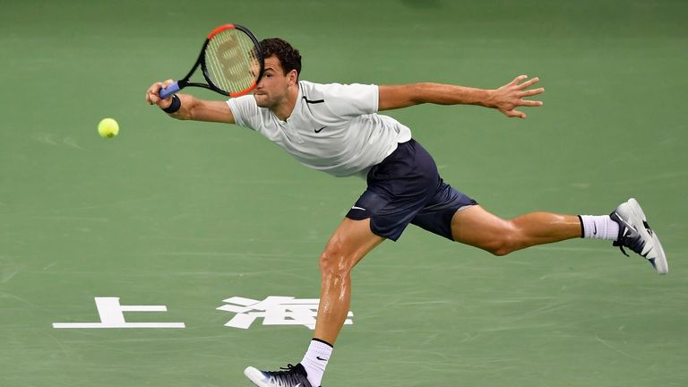Grigor Dimitrov had to battle past Ryan Harrison who held three match points against the Bulgarian