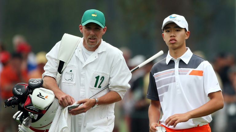 Tianlang was the lowest amateur at Augusta in 2013