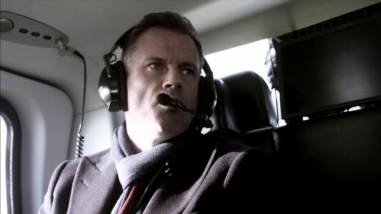 Jamie Carragher has taken to the skies... see more from 11.30am on Saturday