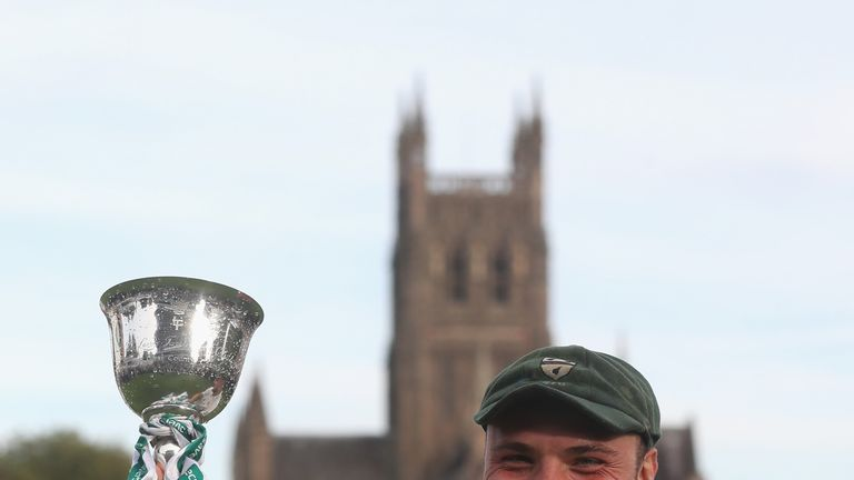 Joe Leach captained Worcestershire to the Division Two title