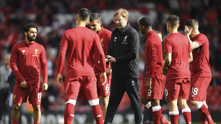 Liverpool are top of their Champions League group on goal difference