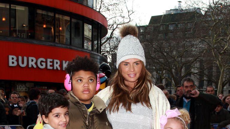 Katie Price with her son Harvey