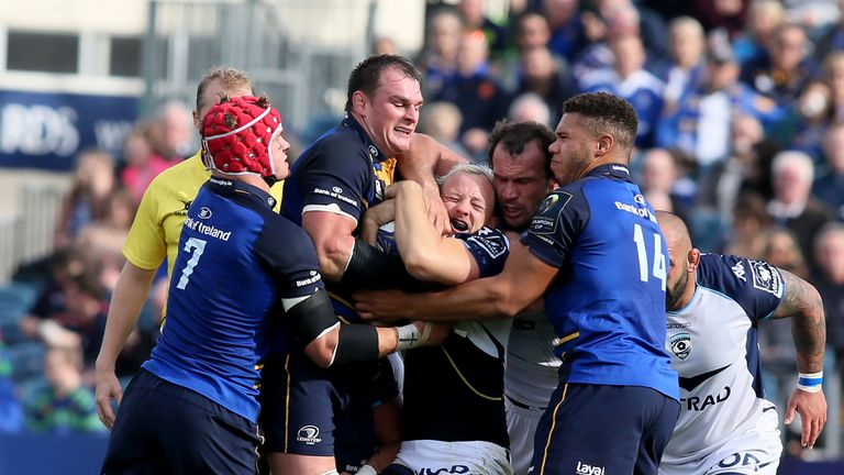 The Leinster defence just about held firm under considerable pressure late on