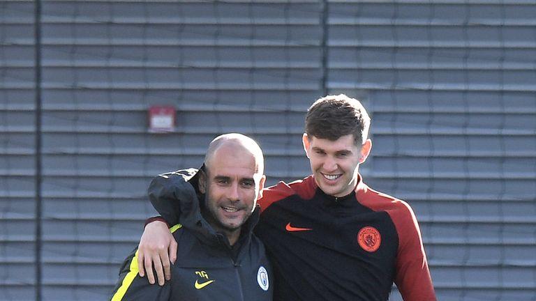 The City boss has credited John Stones and Nicolas Otamendi for the team's recent winning form
