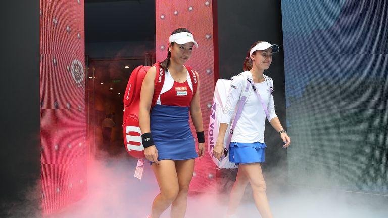 Hingis is playing alongside Chan Yung-jan at the season-ending WTA Finals