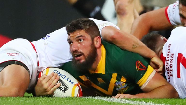 Australia beat England 18-4 in the first game of the World Cup