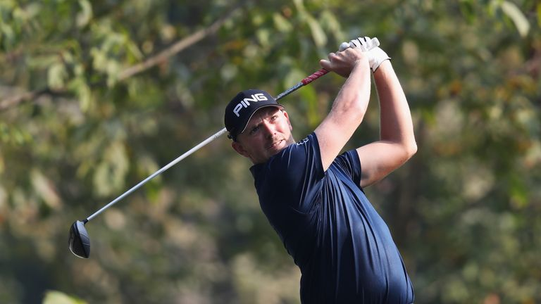 Matt Wallace posted four birdies and an eagle during an impressive round