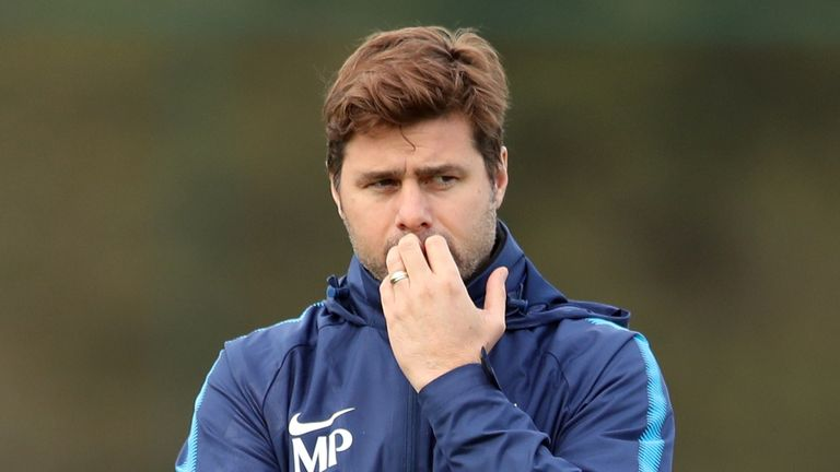 Mauricio Pochettino takes his Tottenham team to Arsenal