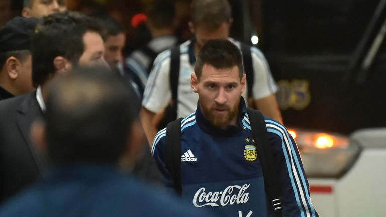 Messi has scored 61 goals in 122 games for Argentina, but has never won a major trophy with them
