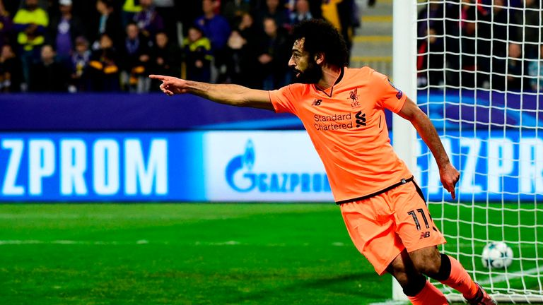 Mohamed Salah struck twice in the first half