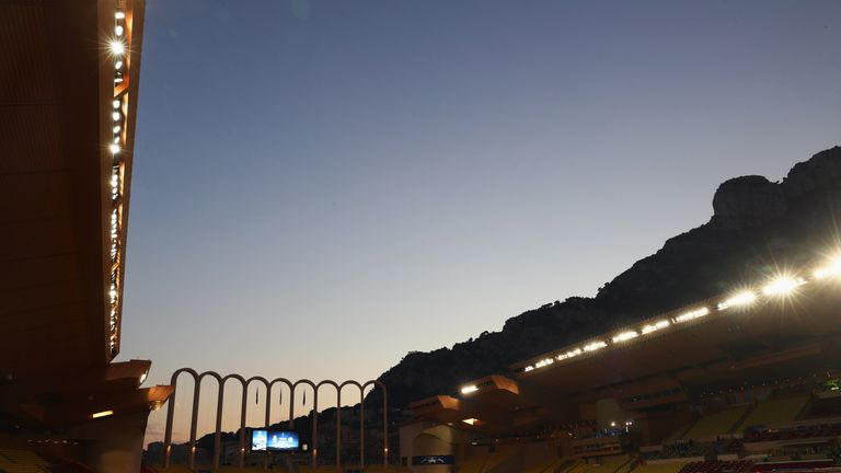 Monaco's home at the Stade Louis II stadium