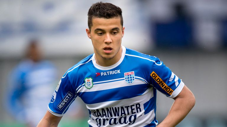 Mustafa Saymak scored for PEC Zwolle