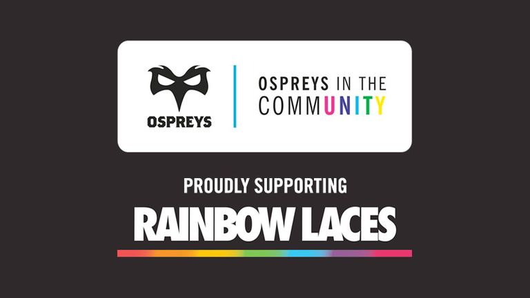Ospreys have pledged their support for the Rainbow Laces campaign (Pic courtesy of Ospreys Rugby)