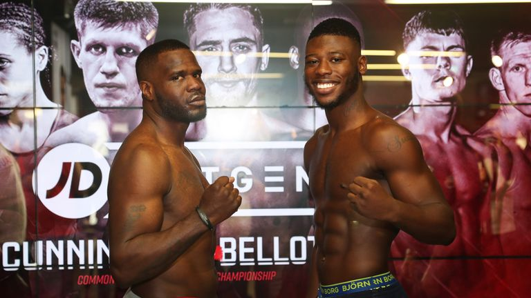 Isaac Chamberlain and Ossie Jervier weigh-in ahead of their cruiserweight clash