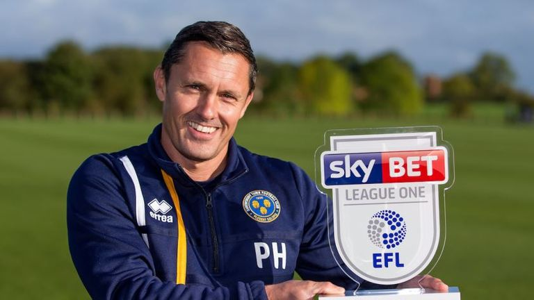 Paul Hurst won the Sky Bet League One Manager of the Month award for September