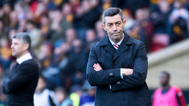 Pedro Caixinha was sacked as Rangers manager in October