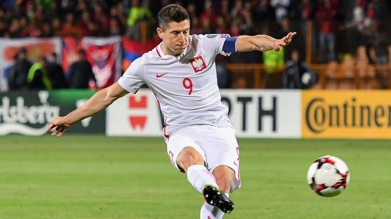Lewandowski will feature for Poland in the World Cup this summer