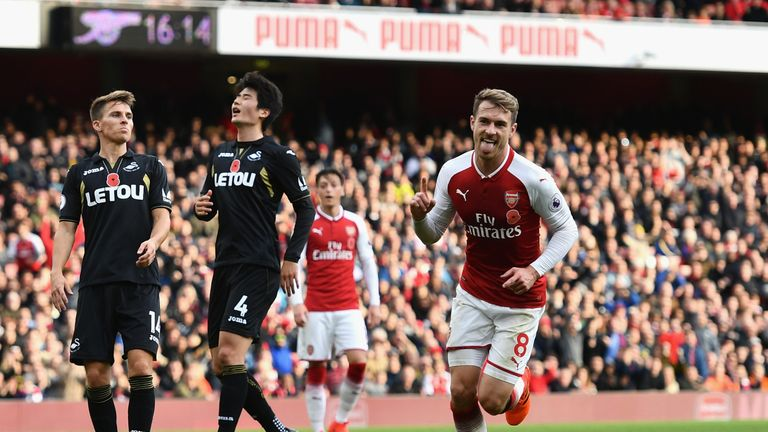 Aaron Ramsey gave Arsenal the lead in the 58th minute