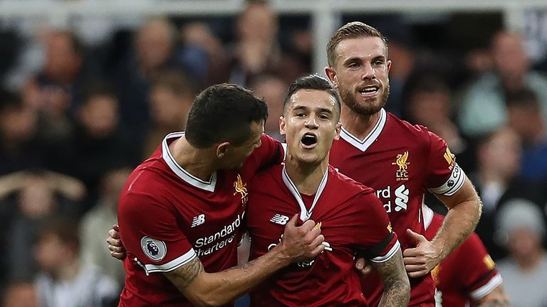 Philippe Coutinho netted from outside the area in Liverpool's 1-1 draw at Newcastle