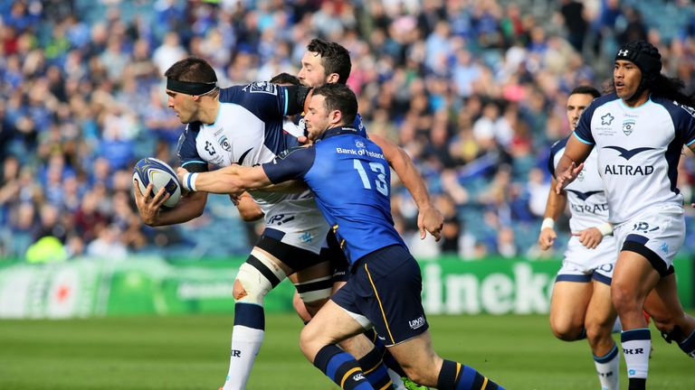 Leinster centre Robbie Henshaw produced a man-of-the-match display in defence and attack