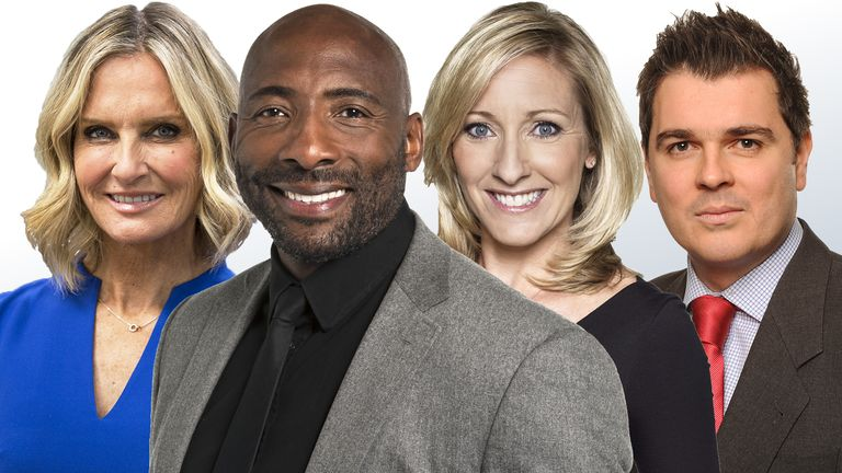 Jacquie Beltrao, Johnny Nelson, Vicky Gomersall and Geraint Hughes are mentors