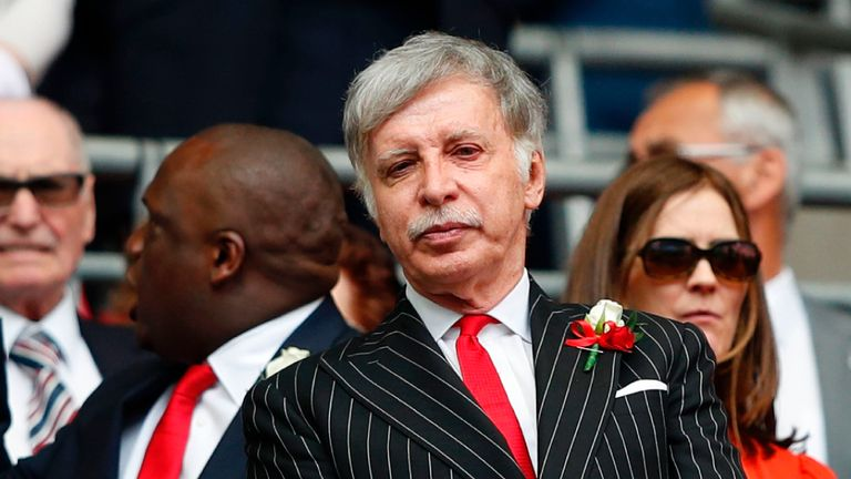 Arsenal's US owner Stan Kroenke told the Daily Telegraph he would
