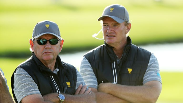 Tony Johnstone and Ernie Els were assistant captains to Nick Price in New Jersey