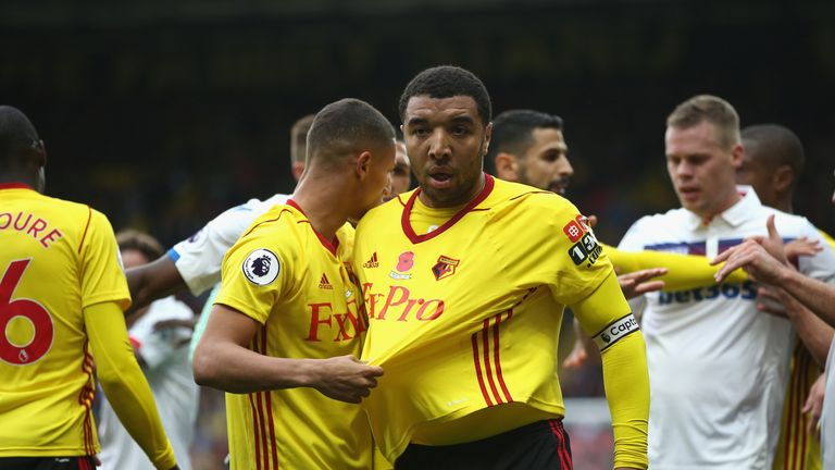 Troy Deeney involved in angry bust-up with Stoke players