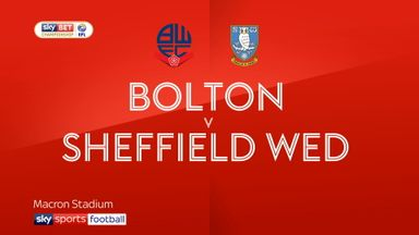 Bolton 2-1 Sheffield Wed