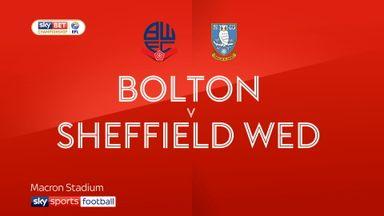 Bolton 2-1 Sheffield Wed