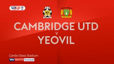 Cambridge 2-1 Yeovil
