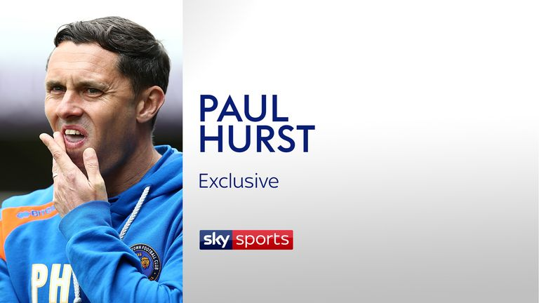Shrewsbury Town manager Paul Hurst spoke exclusively to Sky Sports
