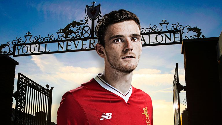 Andy Robertson has only made three starts for Liverpool