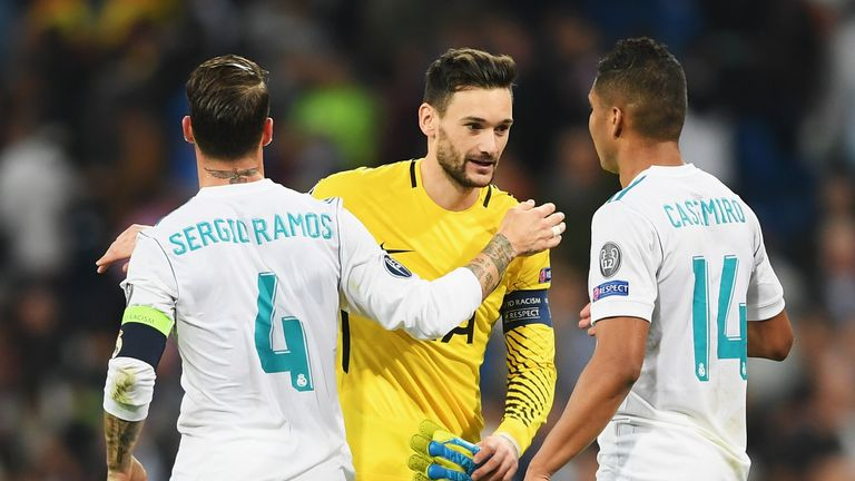Hugo Lloris made a string of outstanding saves as Spurs claimed a 1-1 draw at the Bernabeu