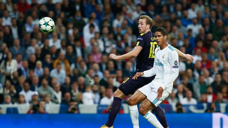 Varane put through his own net to give Spurs the lead at the Bernabeu