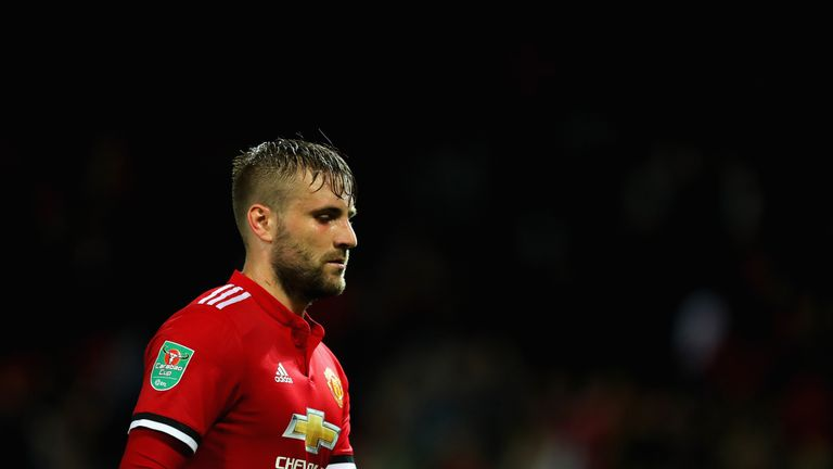 Luke Shaw has only made one senior appearance this season
