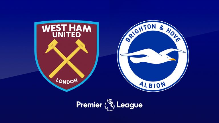 West Ham v Brighton badge graphic