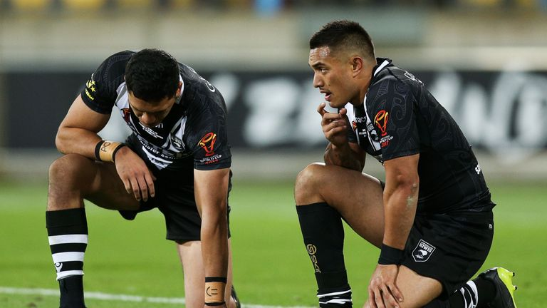 New Zealand were knocked out in the World Cup quarter-finals after a 4-2 defeat to Fiji