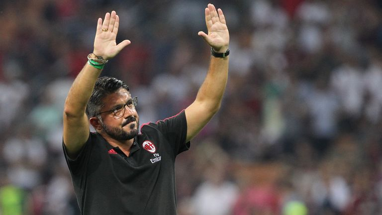 Gennaro Gattuso says AC Milan will have a different game plan for their second leg against Arsenal