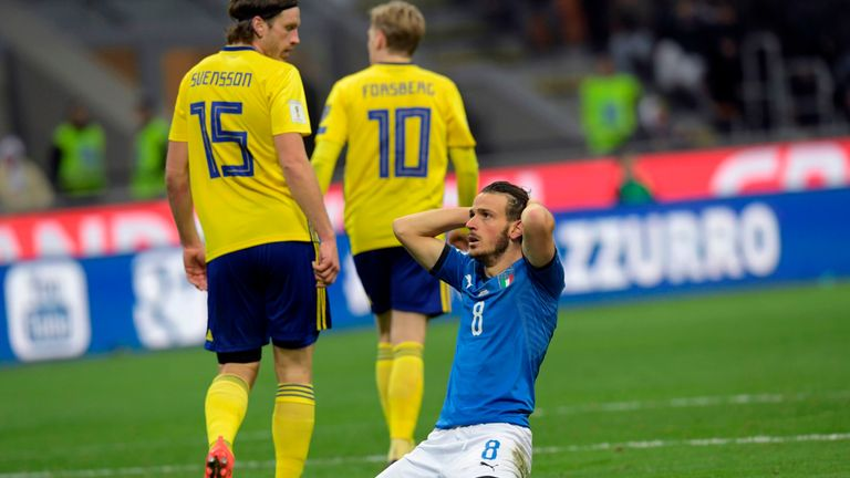 4 time champions Italy are out of Russia World Cup. They were dumped out by Sweden after failing to overturn 0-1 deficit in the first leg of play-off.