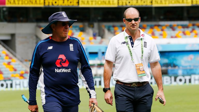 Strauss (right) with England head coach Trevor Bayliss who will be part of a new three-person selection panel