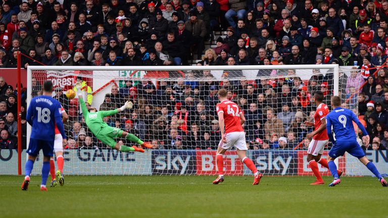 Ward strokes in Cardiff's second at the City Ground