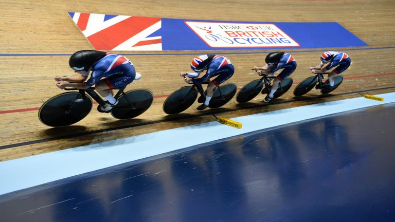 Elinor Barker, Katie Archibald, Neah Evans and Emily Nelson won gold in the team pursuit at the World Track Cup