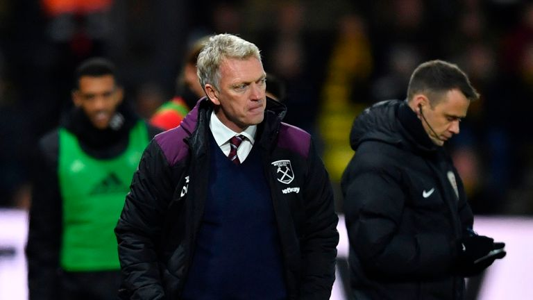 West Ham manager David Moyes has a long list of absentees