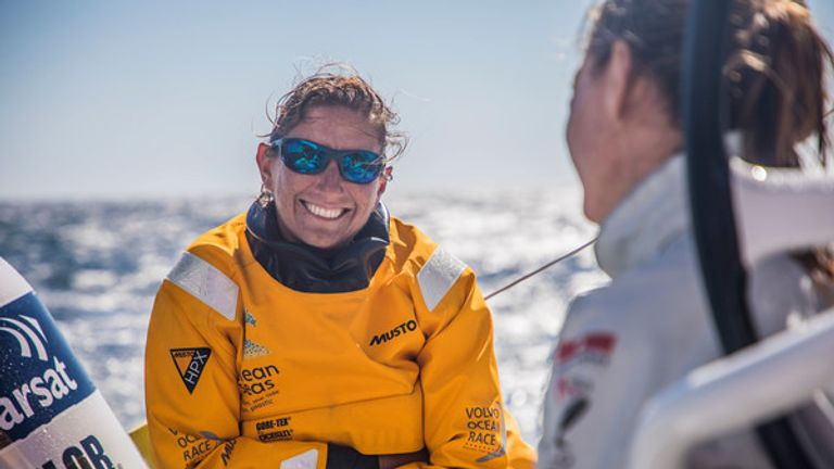 Dee Caffari feels her crew are getting better with every leg (Photo: Jeremie Lecaudey/Volvo Ocean Race)