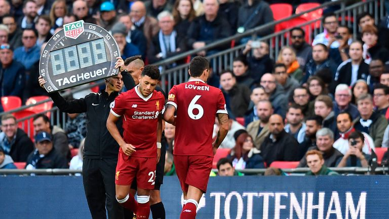 Dejan Lovren was substituted after 31 minutes in the 4-1 defeat to Tottenham